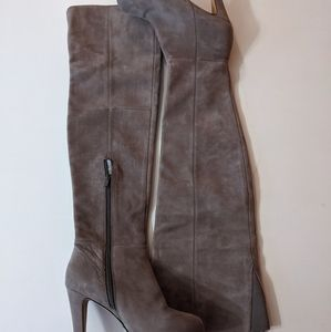 Aldo over the knee gray suede boots